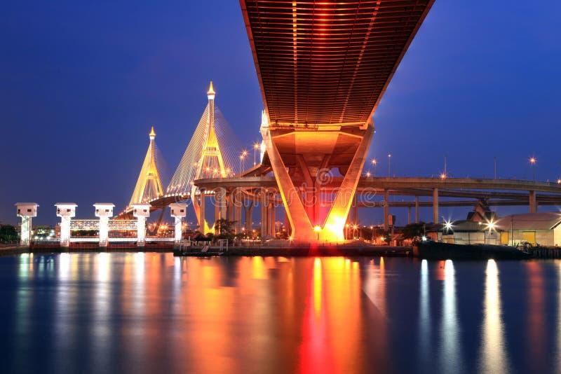Puente industrial de Bangkok imágenes de archivo libres de regalías