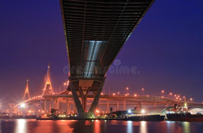 Puente industrial del anillo fotografía de archivo