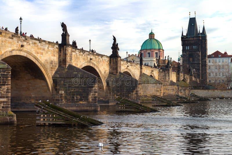 Puente Karluv de Charles más, Praga, República Checa foto de archivo libre de regalías