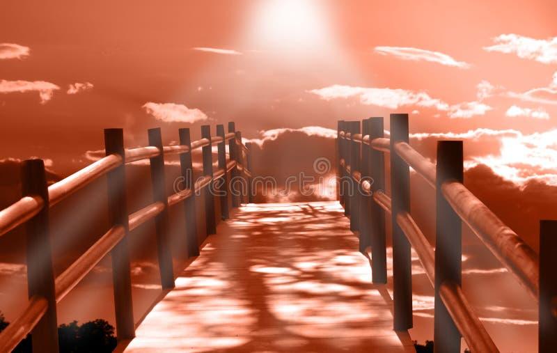 Puente a la puesta del sol foto de archivo libre de regalías