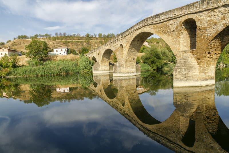 Download Puente La Reinabrücke, Navarre Stockfoto - Bild von draußen, mittelalterlich: 26365178