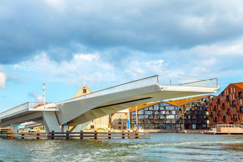 Puente levadizo en Copenhague, Dinamarca foto de archivo libre de regalías