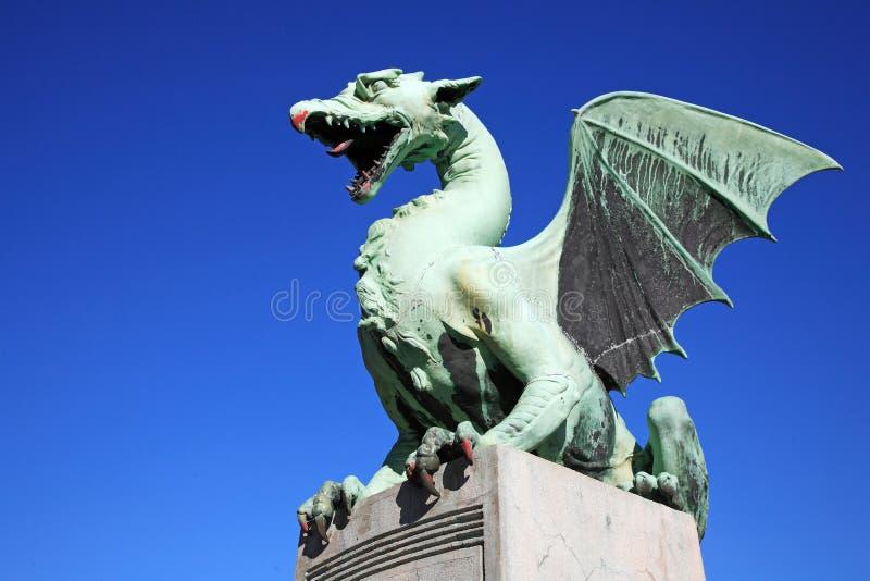 Puente Ljubljana de los dragones imágenes de archivo libres de regalías