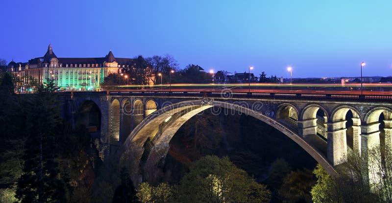 Puente Luxemburgo de Pont Adolfo imágenes de archivo libres de regalías
