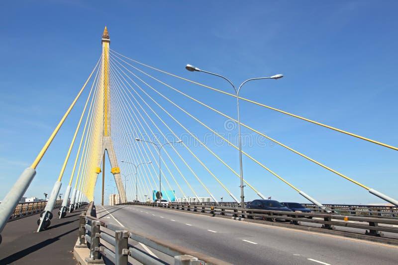 Puente mega de la honda, Rama 8 fotografía de archivo libre de regalías