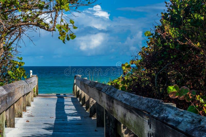 Puente a Miami Beach fotografía de archivo libre de regalías