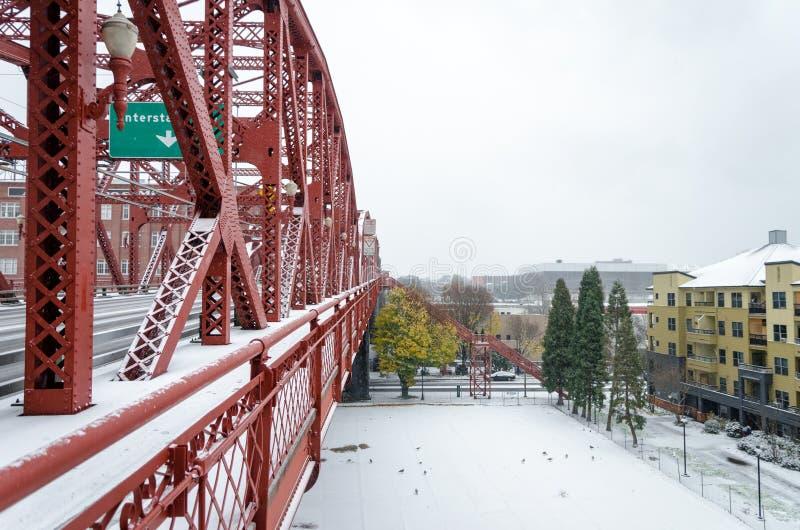 Puente Nevado Broadway foto de archivo