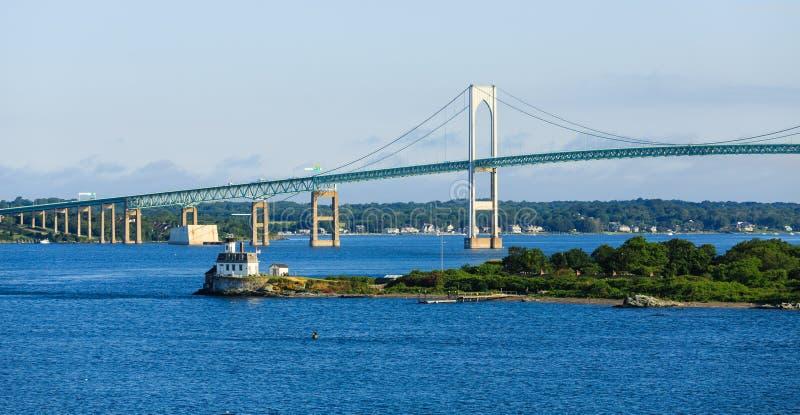 Puente a Newport Rhode Island imagen de archivo