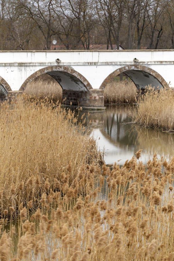 puente Nueve-agujereado en Hungría fotografía de archivo
