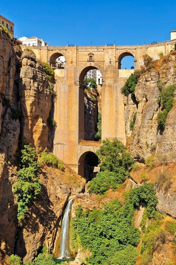 Puente Nuevo Bridge, Ronda imagens de stock