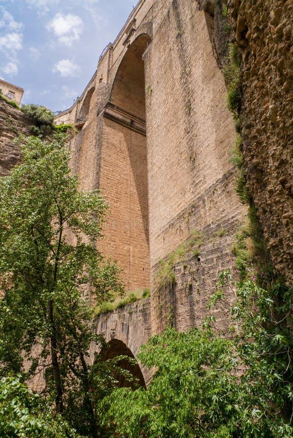 Puente Nuevo most, Ronda, Hiszpania zdjęcie stock