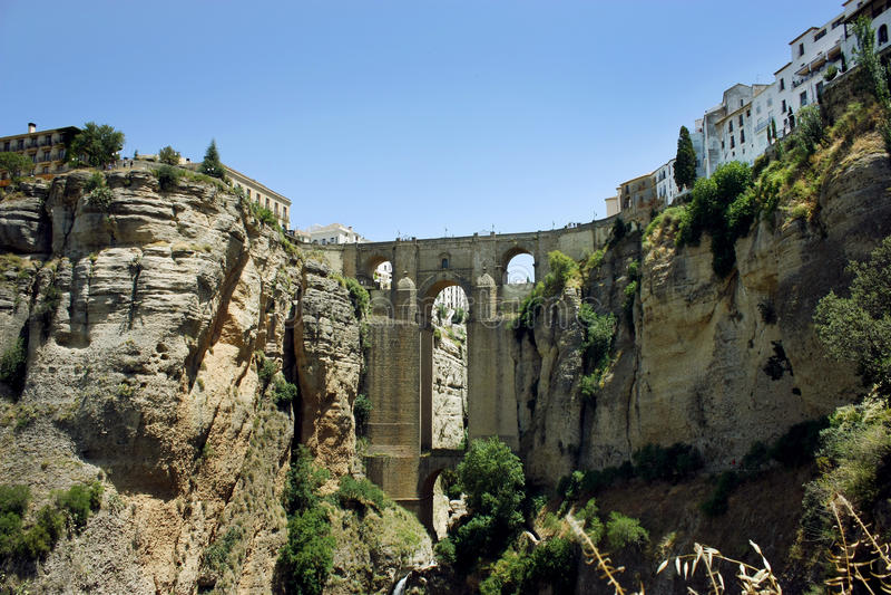 Puente Nuevo most w Ronda, Hiszpania zdjęcia royalty free