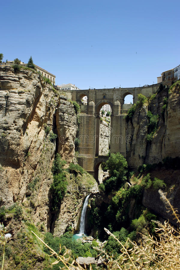Puente Nuevo most w Ronda, Hiszpania fotografia royalty free