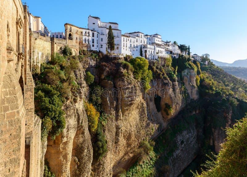 Puente Nuevo most w Ronda, jeden sławne białe wioski w Andalusia, Hiszpania obrazy stock