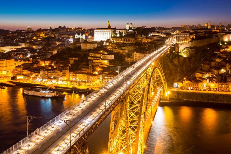 Puente Oporto de Dom Luiz foto de archivo