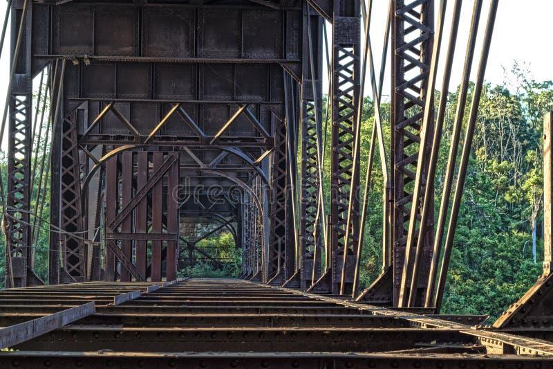 Puente oxidado viejo fotografía de archivo libre de regalías