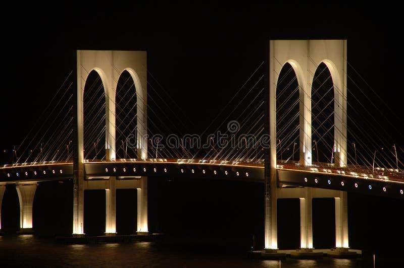 Puente pálido de Sai, Macau foto de archivo