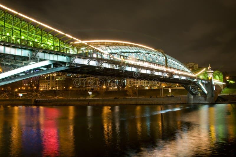 Puente peatonal de Bogdan Khmelnitsky (Kievsky) fotos de archivo libres de regalías