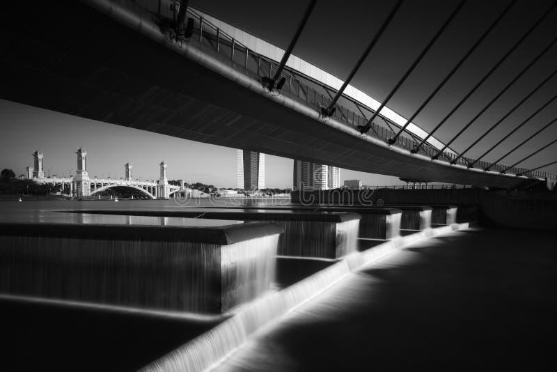 Puente peatonal Putrajaya imagen de archivo
