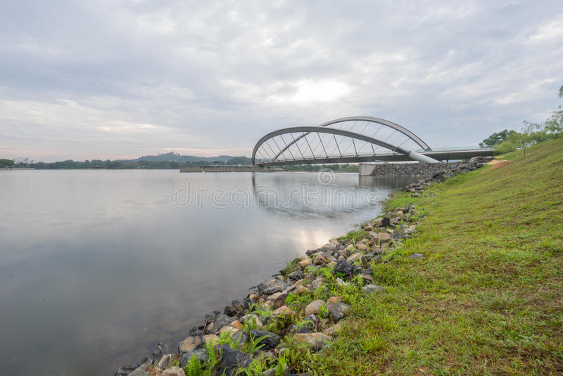 Puente peatonal, Putrajaya imagen de archivo libre de regalías