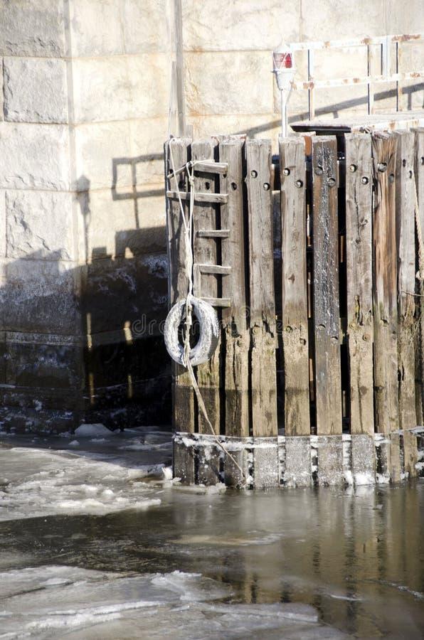 Puente Pier Pilings foto de archivo libre de regalías