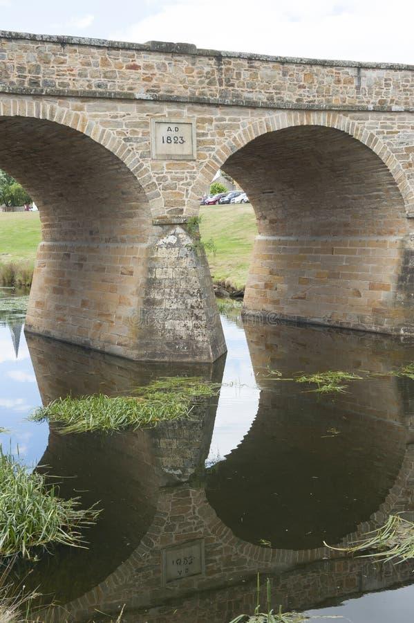 Puente pionero en Richmond, Tasmania, fotos de archivo libres de regalías