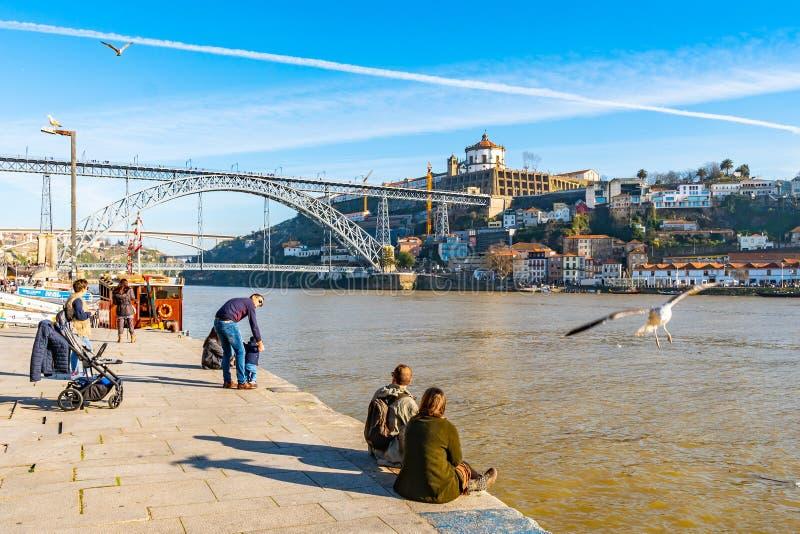 Puente Porto Luis I fotografía de archivo