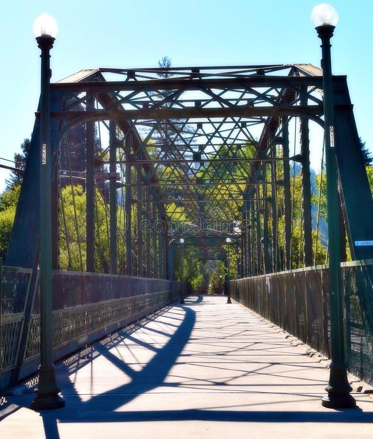 Puente que camina en Guerneville imágenes de archivo libres de regalías