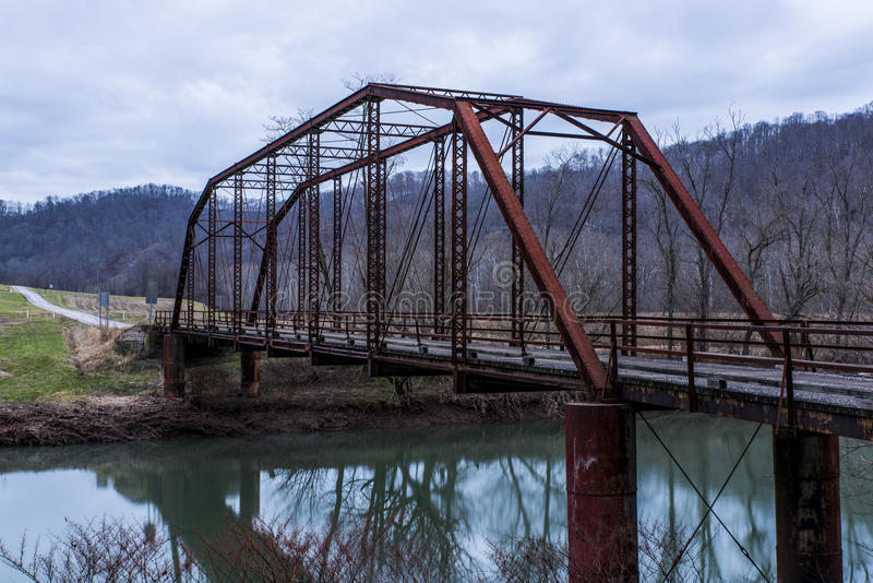 Puente rural histórico - Virginia Occidental fotografía de archivo libre de regalías