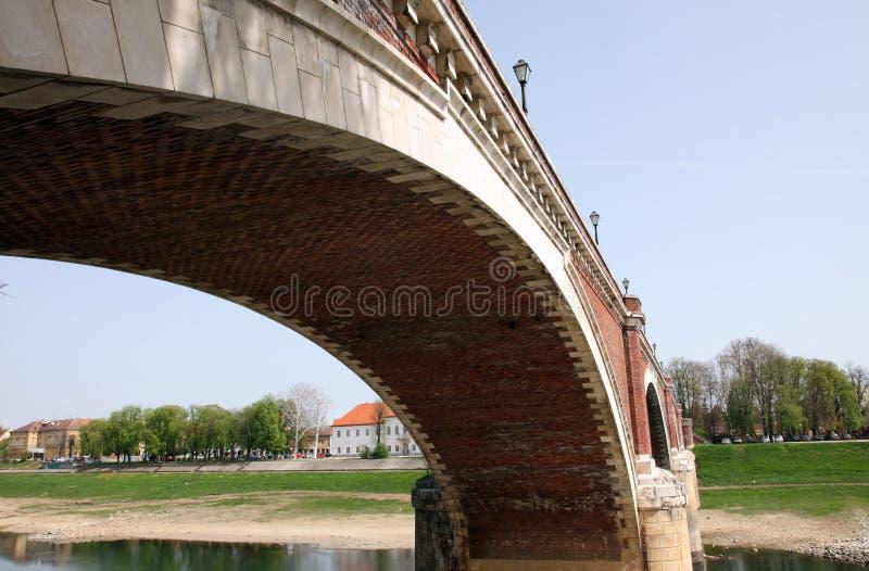 Puente sobre el Kupa, Croacia fotografía de archivo