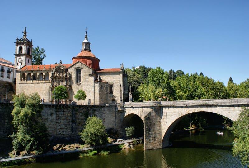 Puente sobre el río Tamega fotografía de archivo libre de regalías