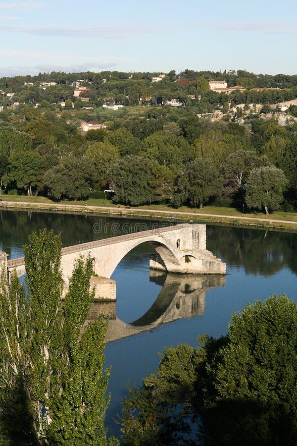 Puente sobre el Rhone foto de archivo