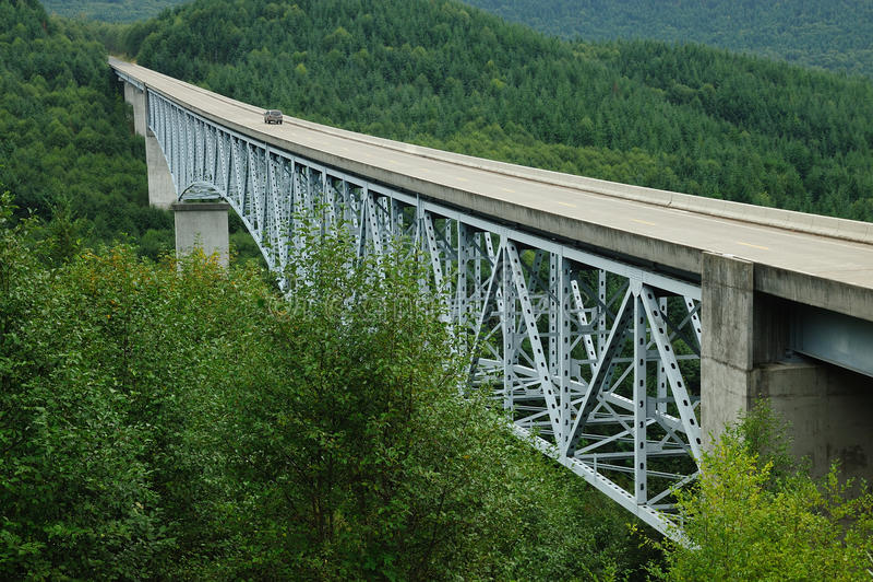 Puente sobre la barranca imagenes de archivo