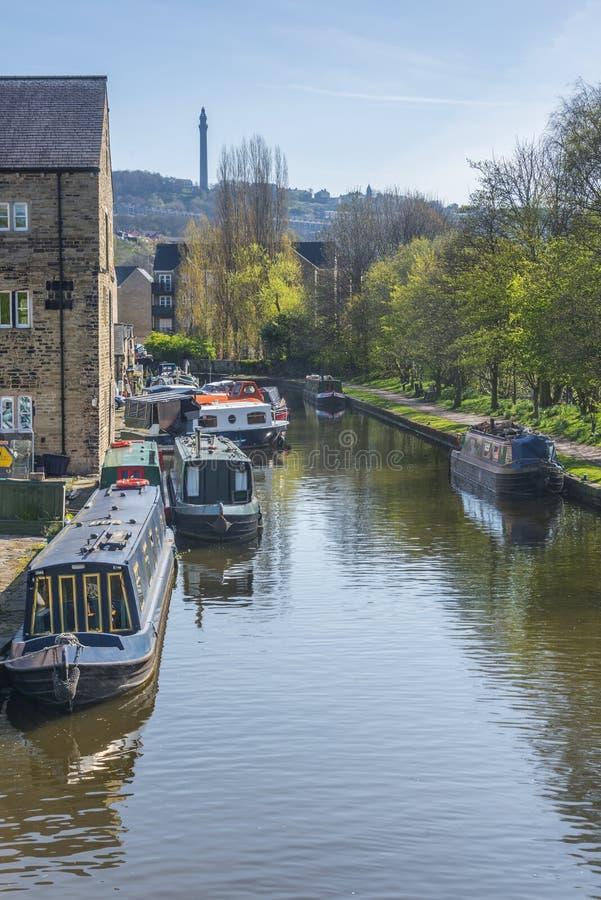 Puente sowerby del canal de Rochdale imagen de archivo libre de regalías