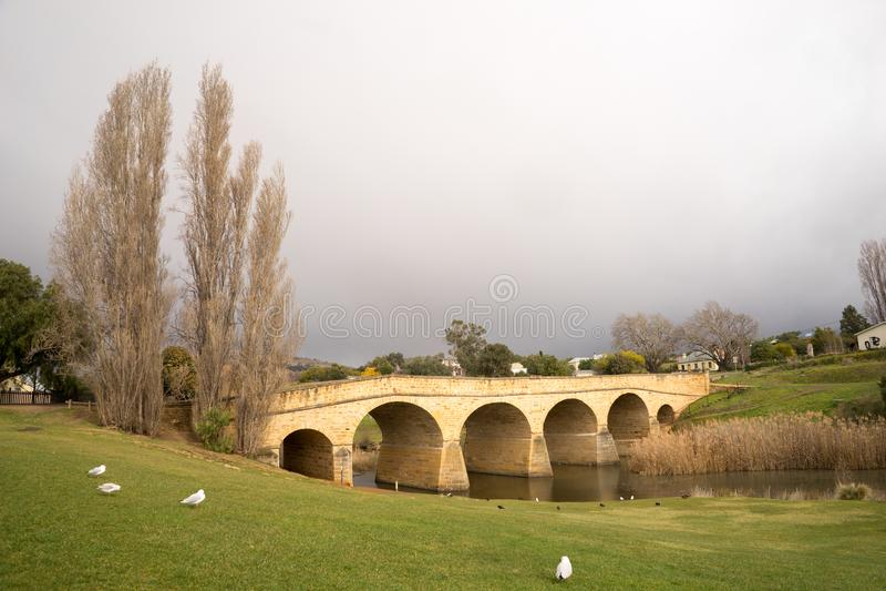 Puente Tasmania de Richmond imagenes de archivo