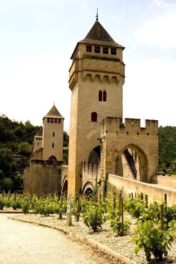 Puente Valetre en Cahors (1) imagen de archivo