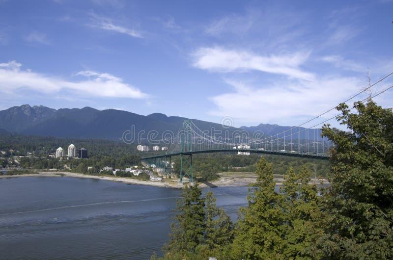 Puente Vancouver de la puerta de los leones fotografía de archivo