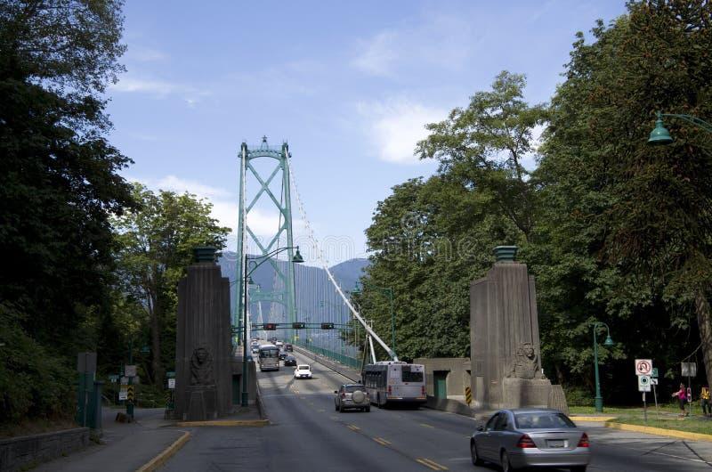 Puente Vancouver de la puerta de los leones foto de archivo libre de regalías
