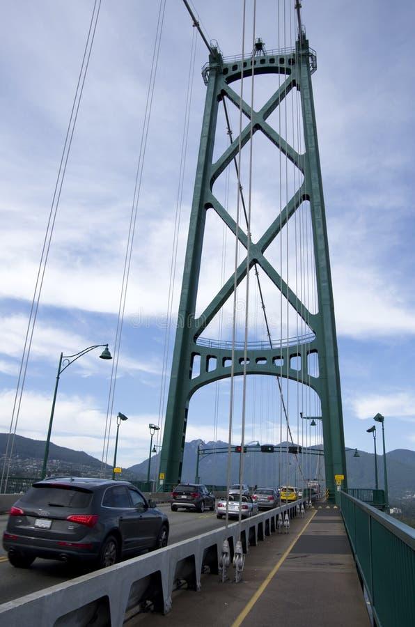 Puente Vancouver de la puerta de los leones fotos de archivo