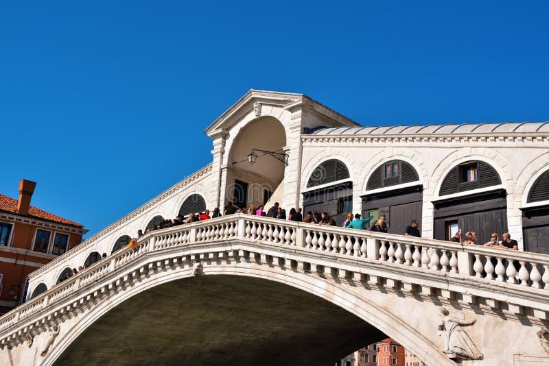 Puente Venecia, Italia de Rialto imágenes de archivo libres de regalías