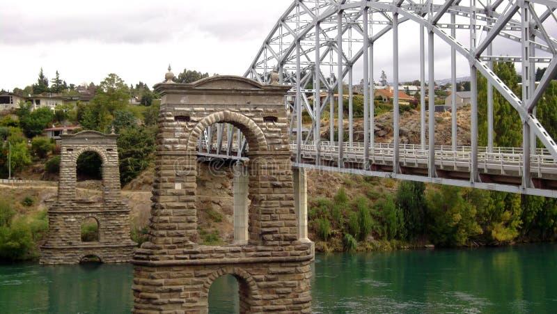 Puente viejo Alexandra imagen de archivo