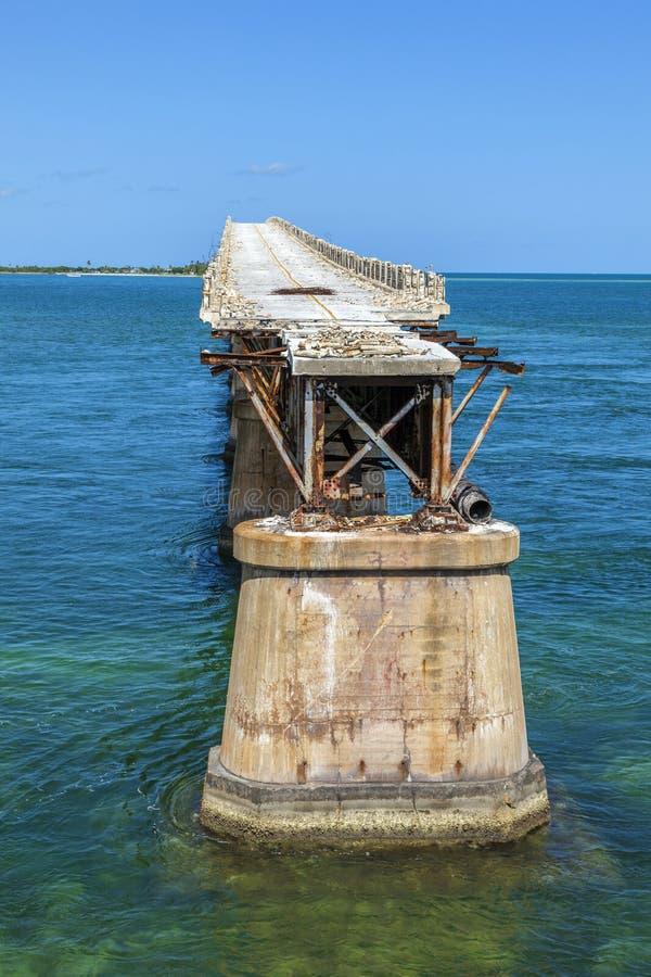 Puente viejo del ferrocarril en la Bahía foto de archivo libre de regalías