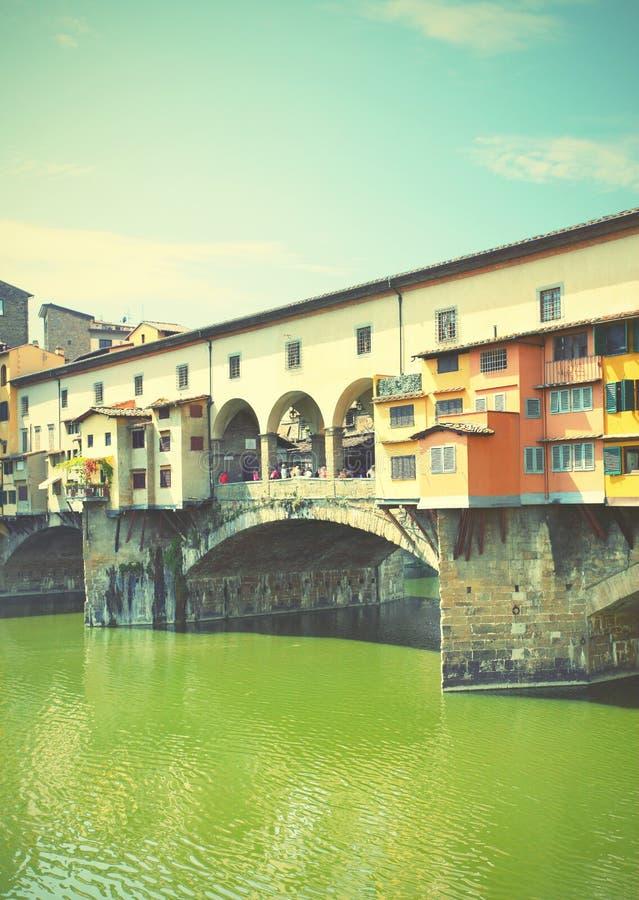 Puente viejo en Florencia fotografía de archivo