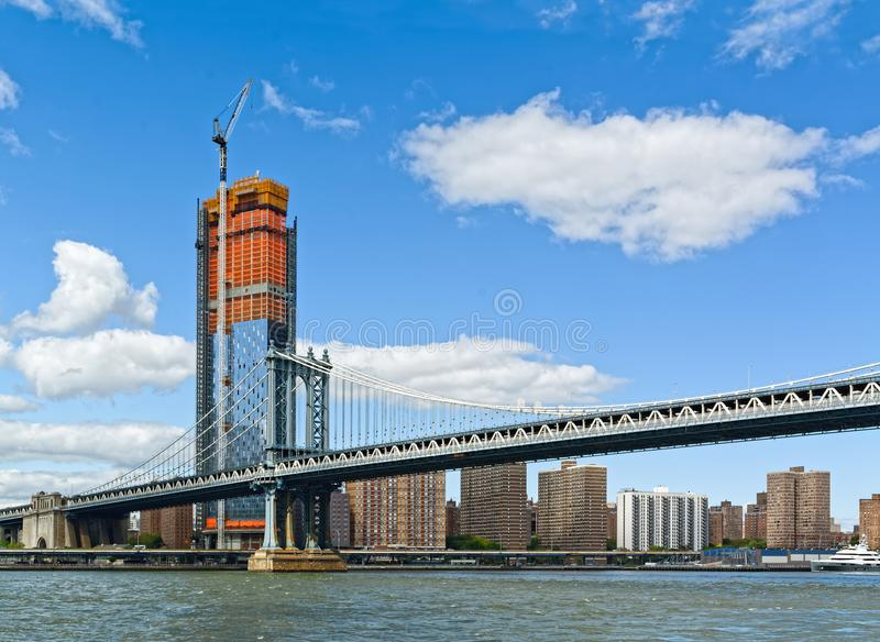Puente y Manhattan, New York City, los E.E.U.U. de Manhattan imagen de archivo libre de regalías