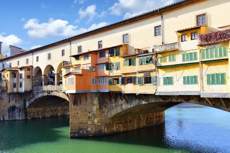 Puentee Ponte Vecchio en Florencia fotografía de archivo