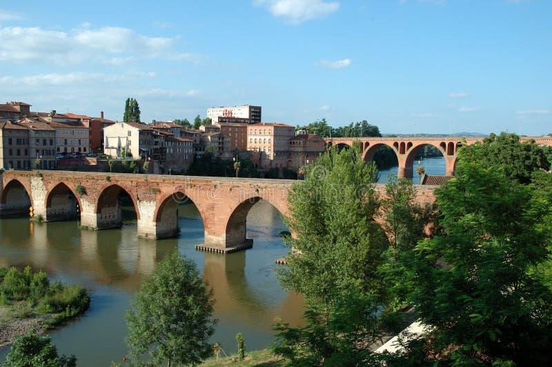 Puentes de Albi - Francia fotografía de archivo