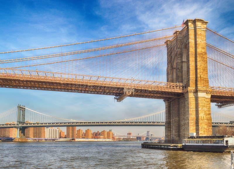 Puentes de New York City foto de archivo libre de regalías