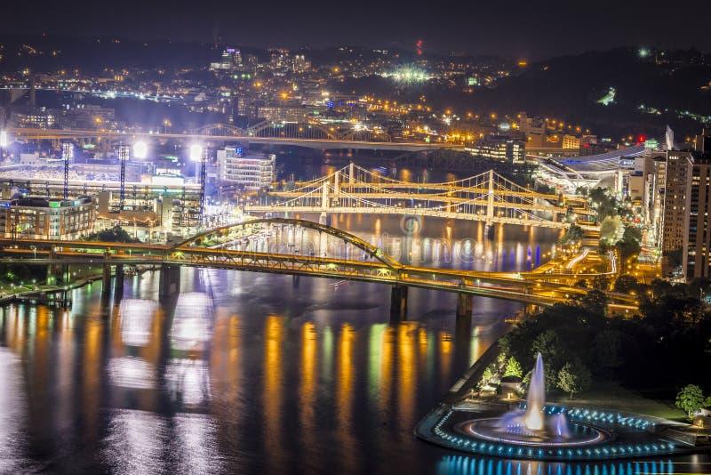 Puentes de Pittsburgh imagen de archivo libre de regalías