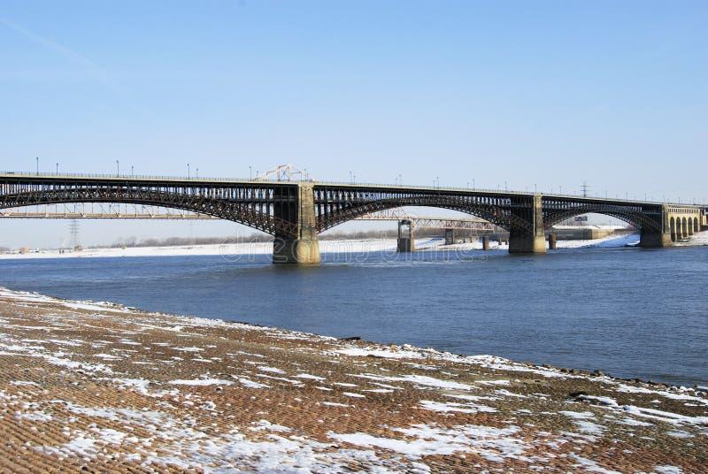 Puentes de St. Louis del invierno foto de archivo libre de regalías