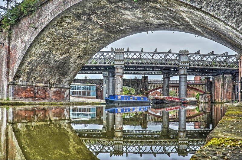 Puentes en Castlefield, Manchester imagen de archivo libre de regalías